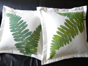 DIY Fern Porch Pillow
