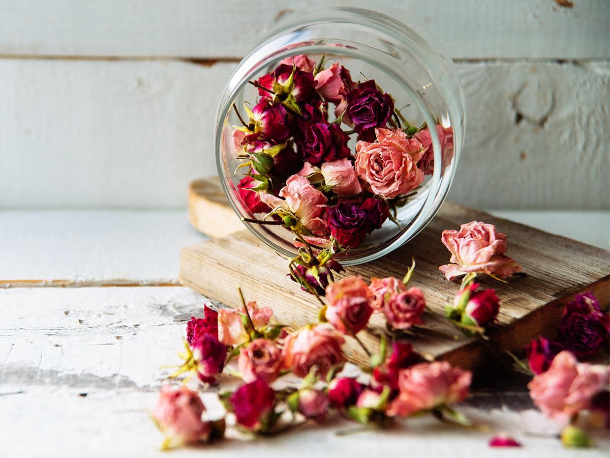 fun ways to reuse dried flowers rose potpourri