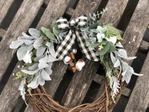 Winter Wreath Decorating