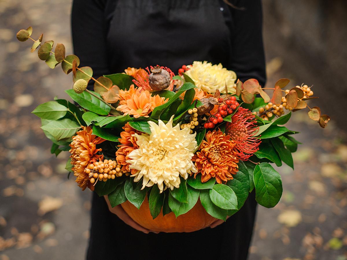 crafts pumpkin vase