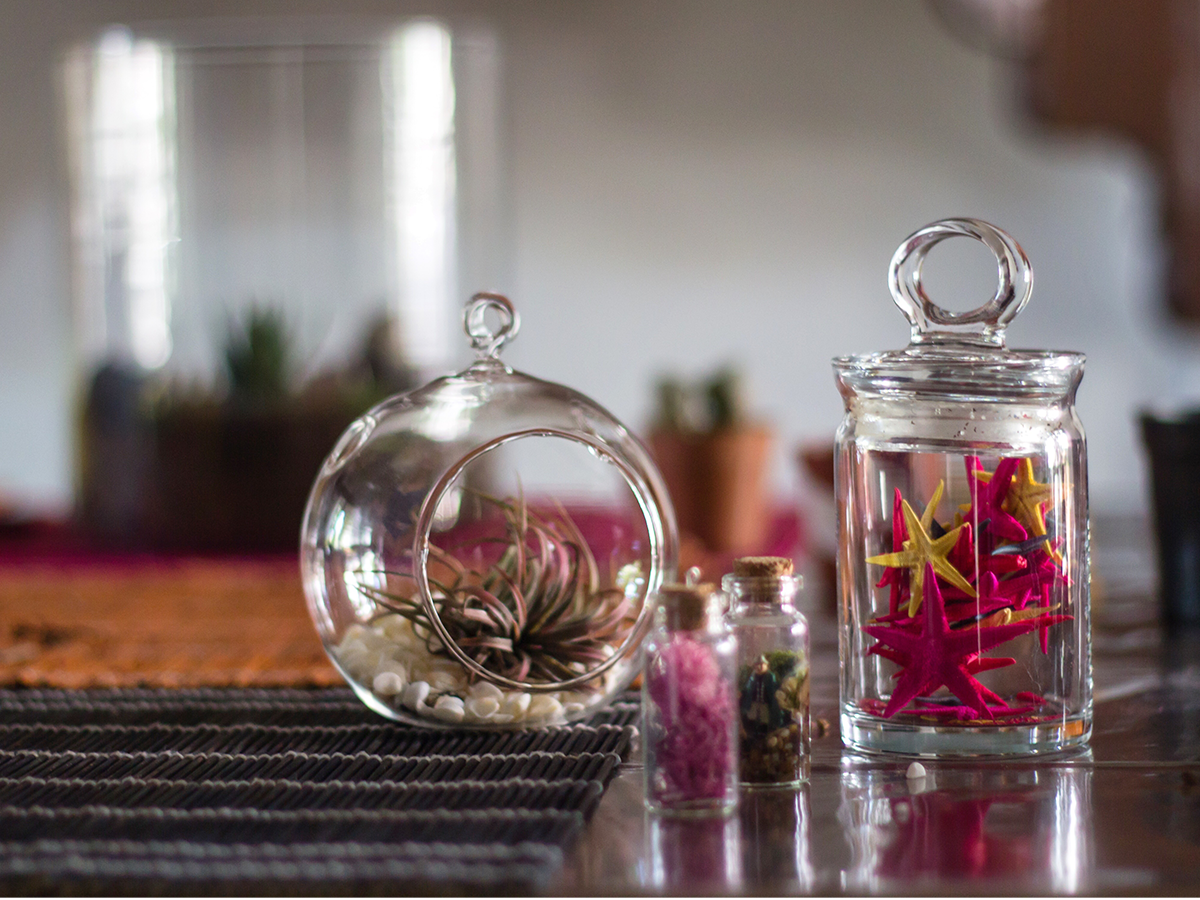 11 Easy Holiday Decorations terrarium ornaments