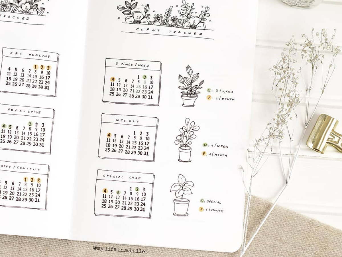 create your new year plant journal bullet journal plant tracker