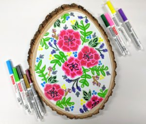 Floral Wood Art