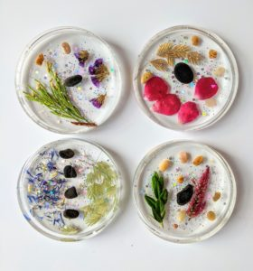 Resin Flower Coasters
