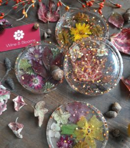 Fall Leaf Resin Coasters